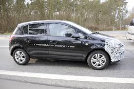 opel corsa utility spy shots opel and vauxhall preparing corsa for a facelift