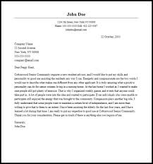 resident assistant cover letter