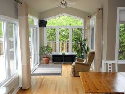 small sunroom ideas with laminate flooring and curtains and modern