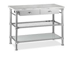 kitchen island cart modular kitchen island with marble top williams sonoma
