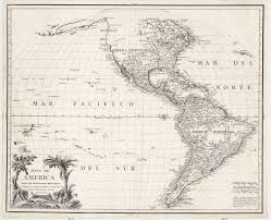 America North And South Map by Mapa De America 1772 Map Of North And South America And The
