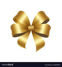 gold satin ribbon present or gift satin ribbon of gold vector image