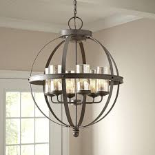 agreeable globe chandelier for your small home decor inspiration