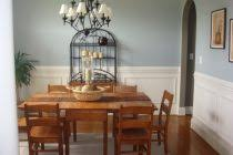 paint colors for dining room with dark wood trim archives light