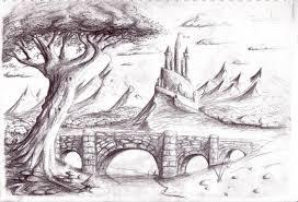 pencil sketch landscape pencil art drawing