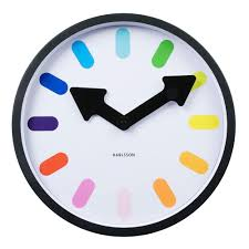 karlsson pictogram rainbow wall clock white clocks wall
