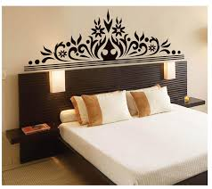 bedroom wall art decal sticker headboard wall decoration mural bedroom wall art decal sticker headboard wall decoration mural poster classic black flowers headboard decoration art decal sports wall decals sports wall