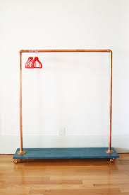 diy clothing rack made from copper pipe floor flanges elbow