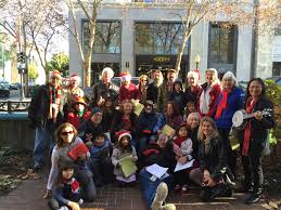 pictures from caroling in downtown palo alto christmas 2015