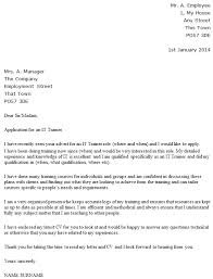 it trainer cover letter example u2013 cover letters and cv examples