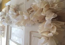 Shabby Chic Bridal Shower Decorations by Burlap Wedding Idea Burlap Wedding Garland Handmade Shabby