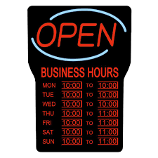 home depot canada thanksgiving hours royal sovereign 15 in x 24 in led open sign with business hours