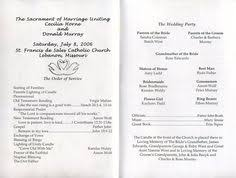 wedding programs wording sles a wedding program is a great way to include guests at the wedding