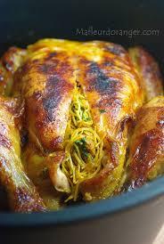 cuisine marocaine poulet farci poulet farci et cuit au four