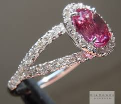 pink sapphire rings images Pink sapphire cushion cut sapphire diamond halo ring jpg