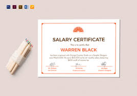 employment certificate with salary employment certificate designs u0026 templates in word psd