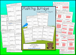 making arrays worksheet pack printable worksheet with answer key