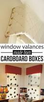 Making A Window Valance How To Make A Window Valance Using The Cardboard From Boxes