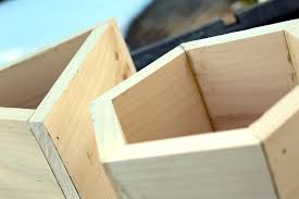 diy planter box how to build a hexagon diy planter box for an indoor garden