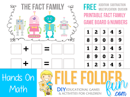 number fact families fact family printable