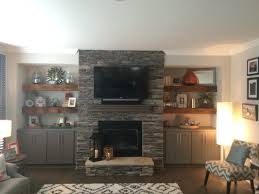 little updates and fireplace plans grey light built ins and shelves