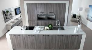 Grey Oak Kitchen Cabinets Fine Modern Grey And White Kitchens Example Of Cabinets Island Not