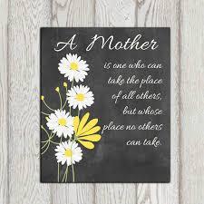 mothers day gift printable christmas gift idea daisy print