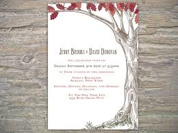 autumn rustic tree invitation printable diy for fall wedding or