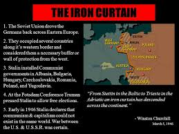 Winston Churchill And The Iron Curtain Cold War The Iron Curtain U201cfrom Stettin In The Baltic To Trieste