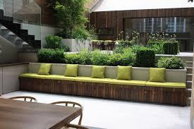 Backyard Bench Ideas Garden Bench Ideas Landscape Contemporary With Contemporary Garden