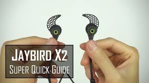 jaybird x2 super quick start setup guide youtube