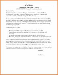 Cover Letter Examples For Medical Office Assistant Sample Cover Letter For Administration Gallery Cover Letter Ideas