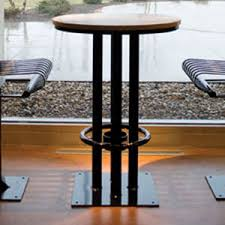 contemporary high bar table metal round for public spaces