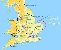 map of east uk of east anglia uceap scotland and ireland