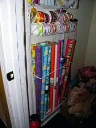 door wrapping paper door wrapping paper storage hanging gift wrap organizer door