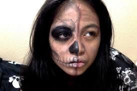 makeup half skull 2