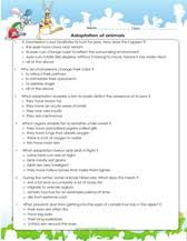 adaptations of plants and animals games worksheets