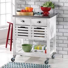 linon 464810wht01u robbin mobile kitchen cart in white w