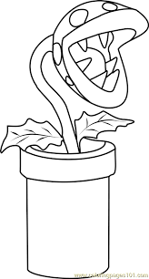 piranha plant coloring free super mario coloring pages
