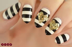 gold heart nail art loving those top heart nail designs the