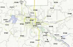 map of oregon eugene zip codes map planet eugene oregon