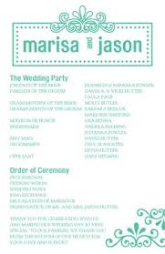 one page wedding programs athletic fonts like varsity search website