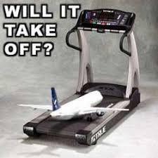 Treadmill Meme - plane on a conveyor belt meme research discussion know your meme