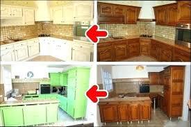 renovation meuble de cuisine renover cuisine bois relooker des meubles de cuisine en chene beau
