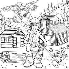 headed dragon wooden log viking cabins hiccup train