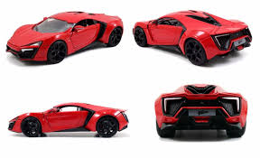 jada toys fast and furious 7 lykan hypersport 1 24 diecast car red