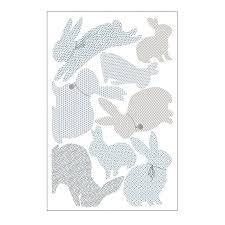 rabbit wall stickers in duck egg blue by koko kids rabbit wall stickers in duck egg blue