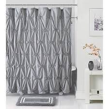 Gray Bathroom Rug Sets 14 Piece Modern Pleated Shower Curtain Bath Rug Set Bathroom