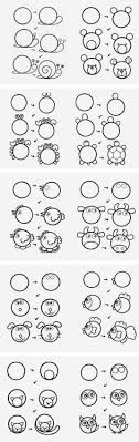 how to draw doodle faces best 25 animal doodles ideas on simple animal