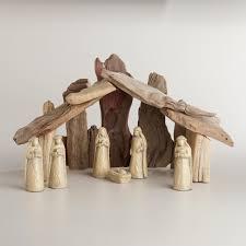 large driftwood nativity scene 7 piece world market festive